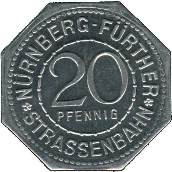 Germany 20 Pfennig (The Neptune Fountain in Nürnberg-Nürnberg-Fürther)