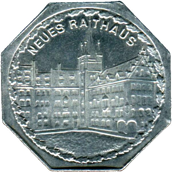 Germany 20 Pfennig (The Nürnberg City Hall-Nürnberg-Fürther)