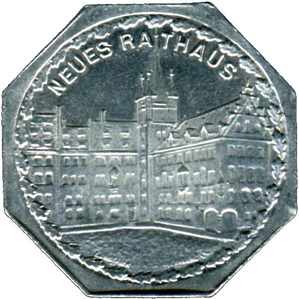 Germany 20 Pfennig (The Nürnberg City Hall-Nürnberg-Fürther)