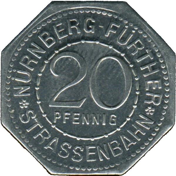 Germany 20 Pfennig (The Unknown sculpture of the Nürnburg Madonna-Fürther)