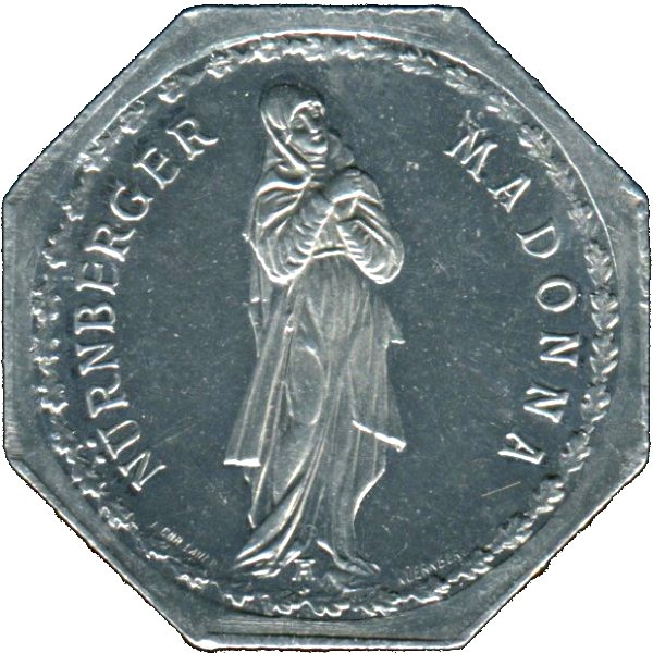 Germany 20 Pfennig (The Unknown sculpture of the Nürnburg Madonna-Fürther)