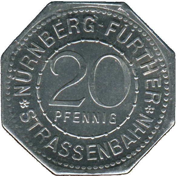 Germany 20 Pfennig (The Peller House-Nürnberg-Fürther)