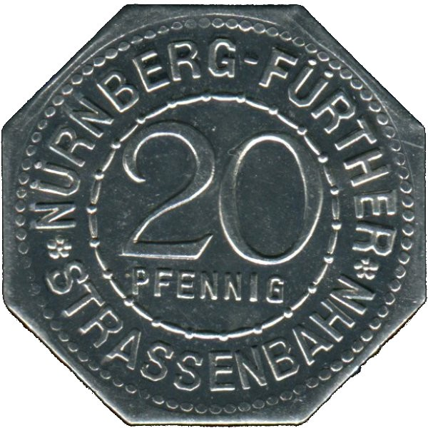 Germany 20 Pfennig (Peter Henlein-Nürnberg-Fürther)