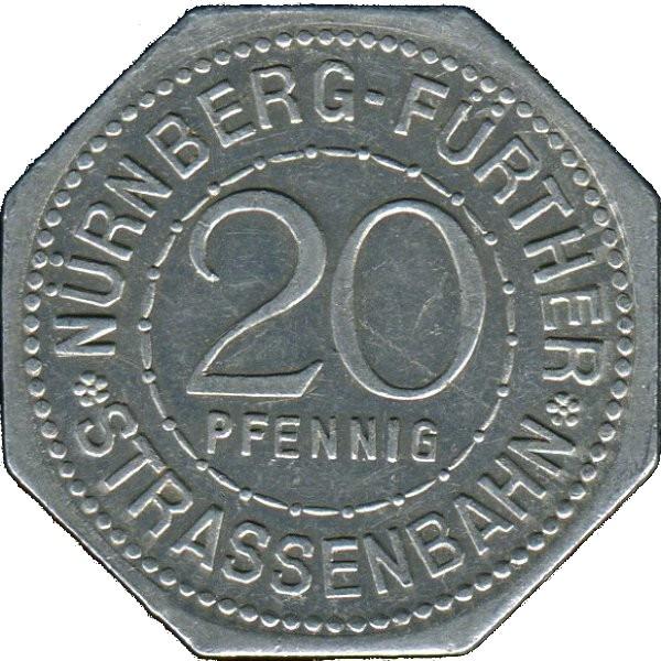 Germany 20 Pfennig (Peter Vischer the Elder-Nürnberg-Fürther)