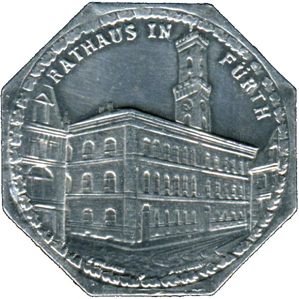 Germany 20 Pfennig (The Fürth City Hall-Nürnberg-Fürther)