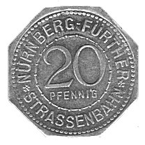 Germany 20 Pfennig (Beautiful Fountain-Nürnberg-Fürther)