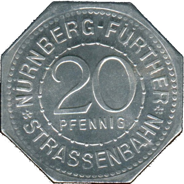 Germany 20 Pfennig (The Spittler Gate-Nürnberg-Fürther)