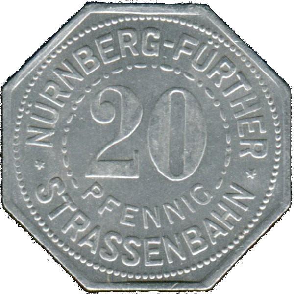 Germany 20 Pfennig (Nürnberg City Savings Bank-Nürnberg-Fürther)