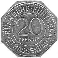 Germany 20 Pfennig (The Deep Well of the Nürnberg Castle-Nürnberg-Fürther)