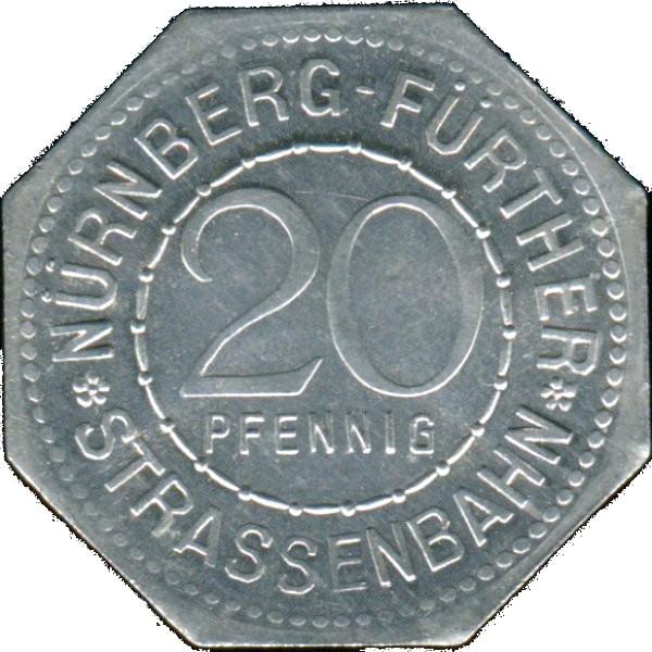 Germany 20 Pfennig (Berolzheimerianum Fürth-Nürnberg-Fürther)