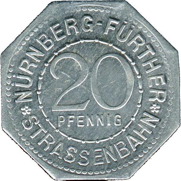 Germany 20 Pfennig (Zoo with Polar Bears-Nürnberg-Fürther)