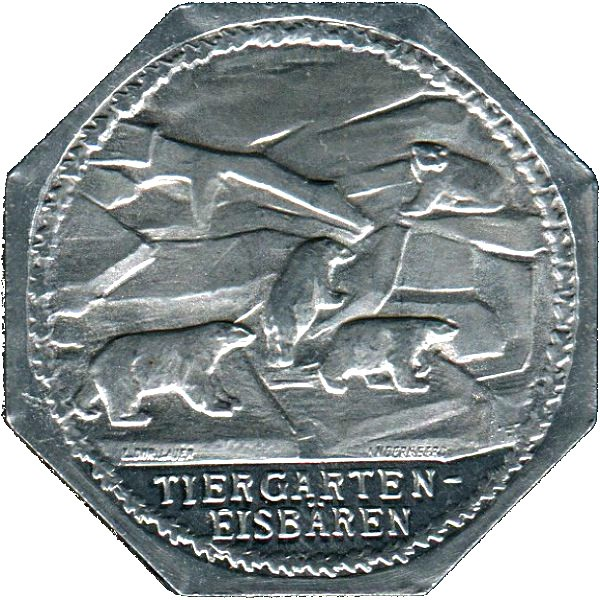 Germany 20 Pfennig (Zoo with Polar Bears-Nürnberg-Fürther)