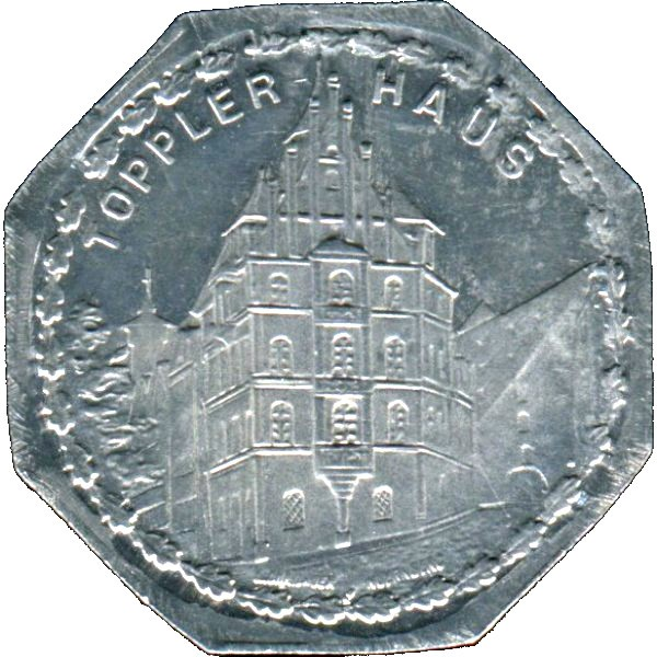 Germany 20 Pfennig (The Toppler House in Old Nürnberg-Nürnberg-Fürther)