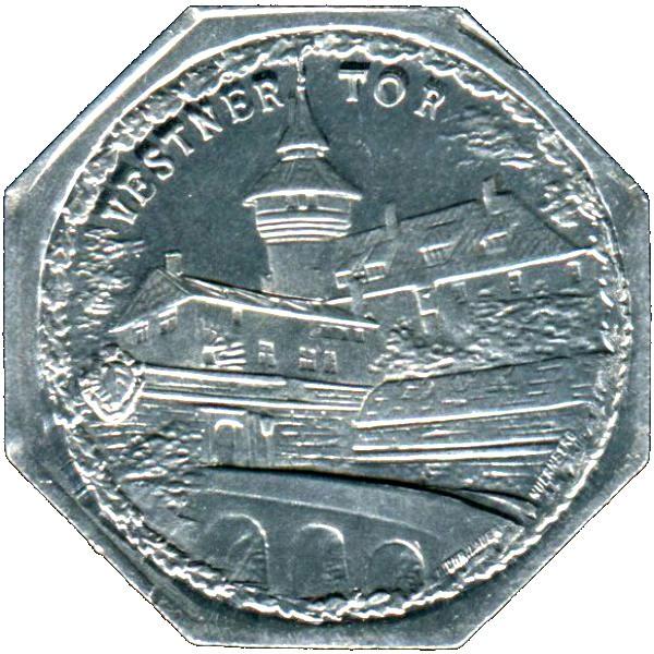 Germany 20 Pfennig (Vestner Gate-Nürnberg-Fürther)