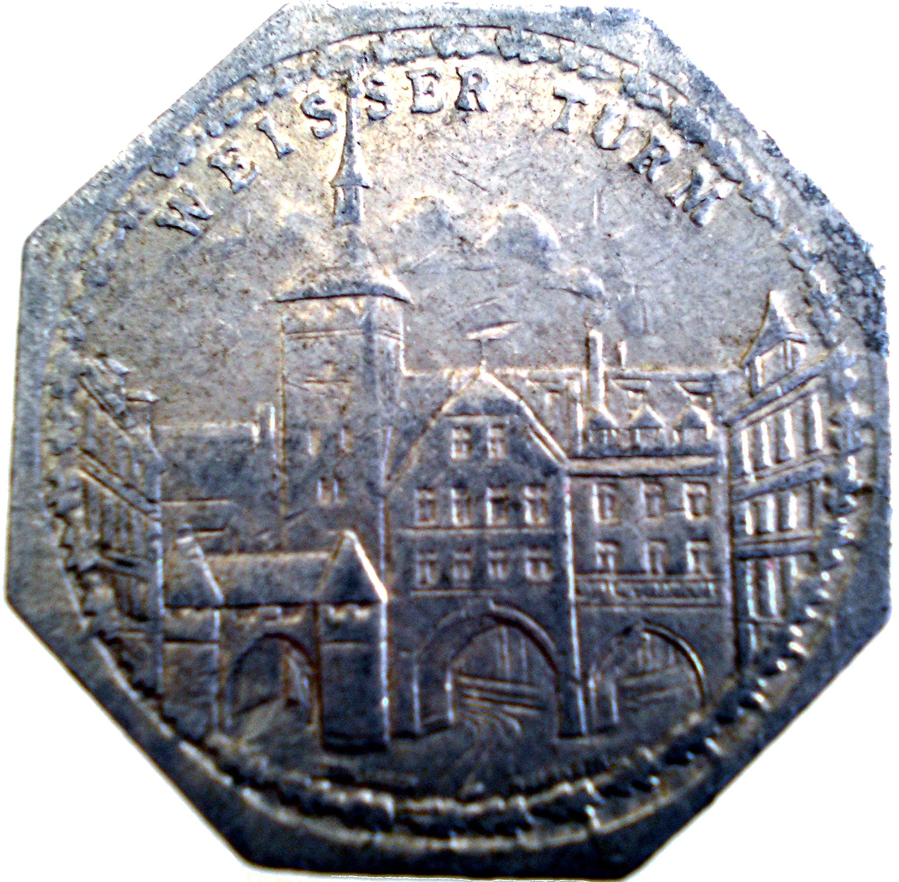 Germany 20 Pfennig (White Tower-Nürnberg-Fürther)