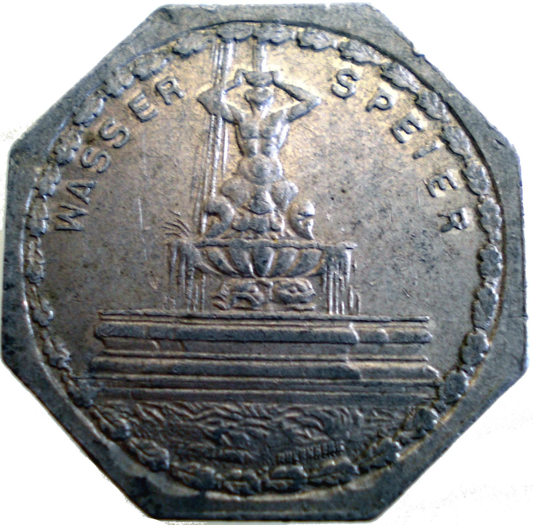 Germany 20 Pfennig (The Gargoyle Fountain-Nürnberg-Fürther)