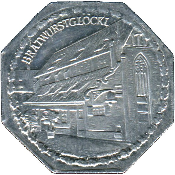 Germany 20 Pfennig (The Bratwurstglöcklein-Nürnberg-Fürther)