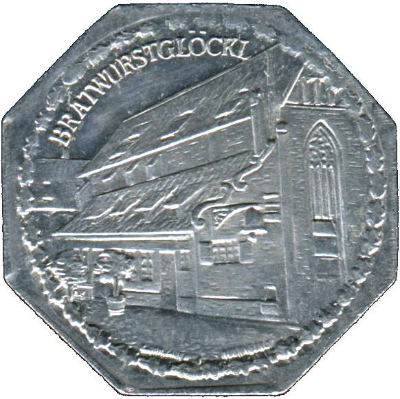 Germany 20 Pfennig (The Bratwurstglöcklein-Nürnberg-Fürther)