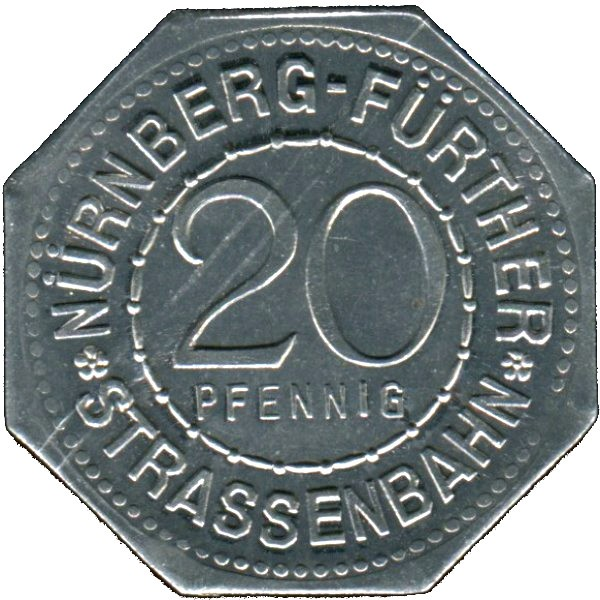 Germany 20 Pfennig (The Nürnberg Castle of the Holy Roman Empire-Nürnberg-Fürther)