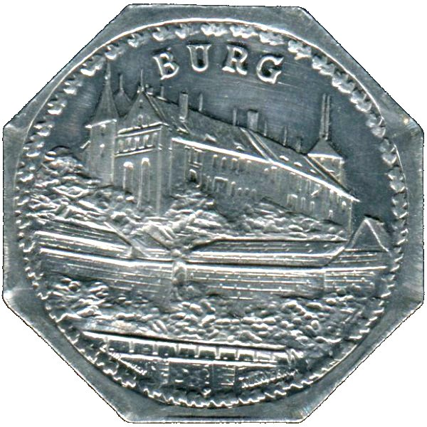 Germany 20 Pfennig (The Nürnberg Castle of the Holy Roman Empire-Nürnberg-Fürther)