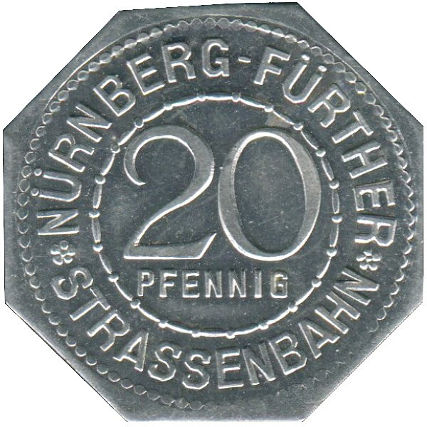 Germany 20 Pfennig (The inauguration of the Bavarian Ludwig Railway-Nürnberg-Fürther)