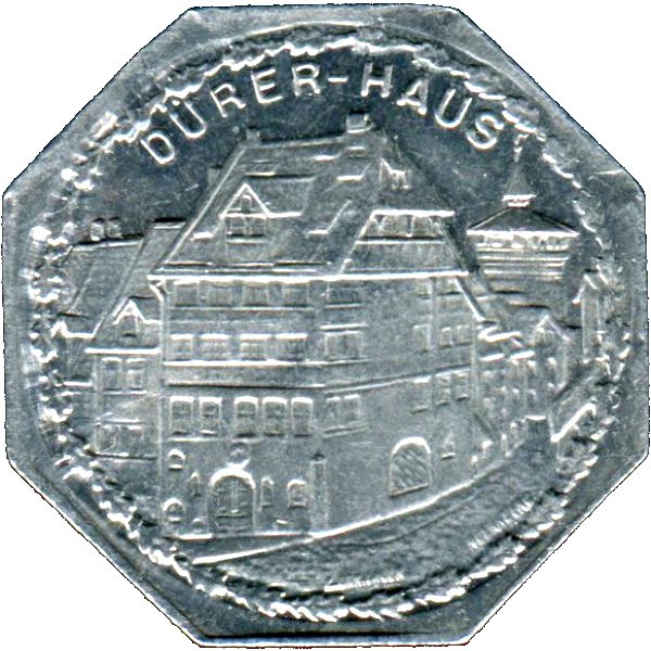 Germany 20 Pfennig (The home of German Renaissance Artist Albrecht Dürer-Nürnberg-Fürther)