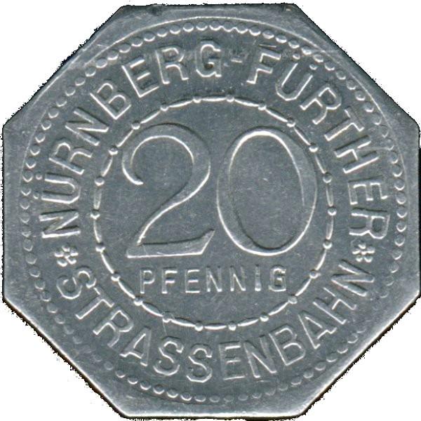 Germany 20 Pfennig (The Churches of St. Elizabeth and St. James-Nürnberg-Fürther)
