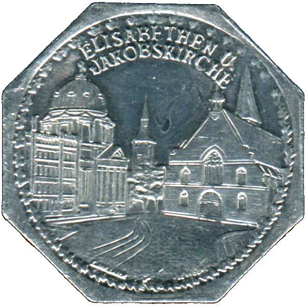 Germany 20 Pfennig (The Churches of St. Elizabeth and St. James-Nürnberg-Fürther)