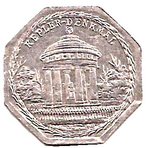1922 Germany 25 Pfennig (Kepler-Denkmal-Nürnberg-Fürther)
