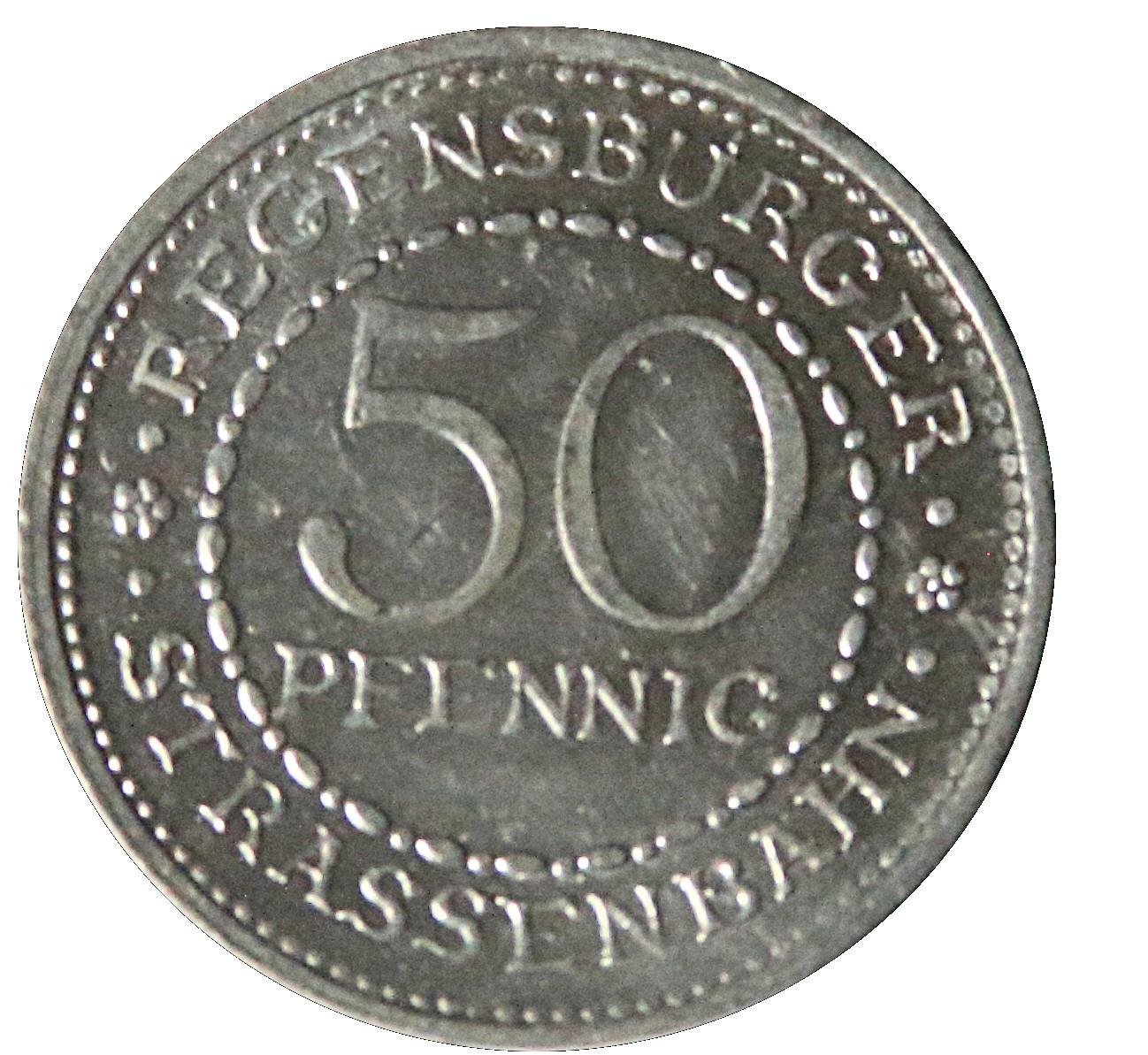 Germany 50 Pfennig (Nürnberg-Fürther)