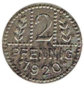 Germany 2 Pfennig  (1920 Eldagsen)