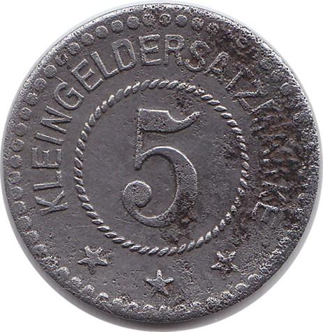 Germany 5 Pfennig  (1918 Peine)