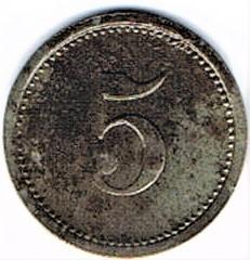 Germany 5 Pfennig  (Teterow-Mecklenburg-Schwerin)