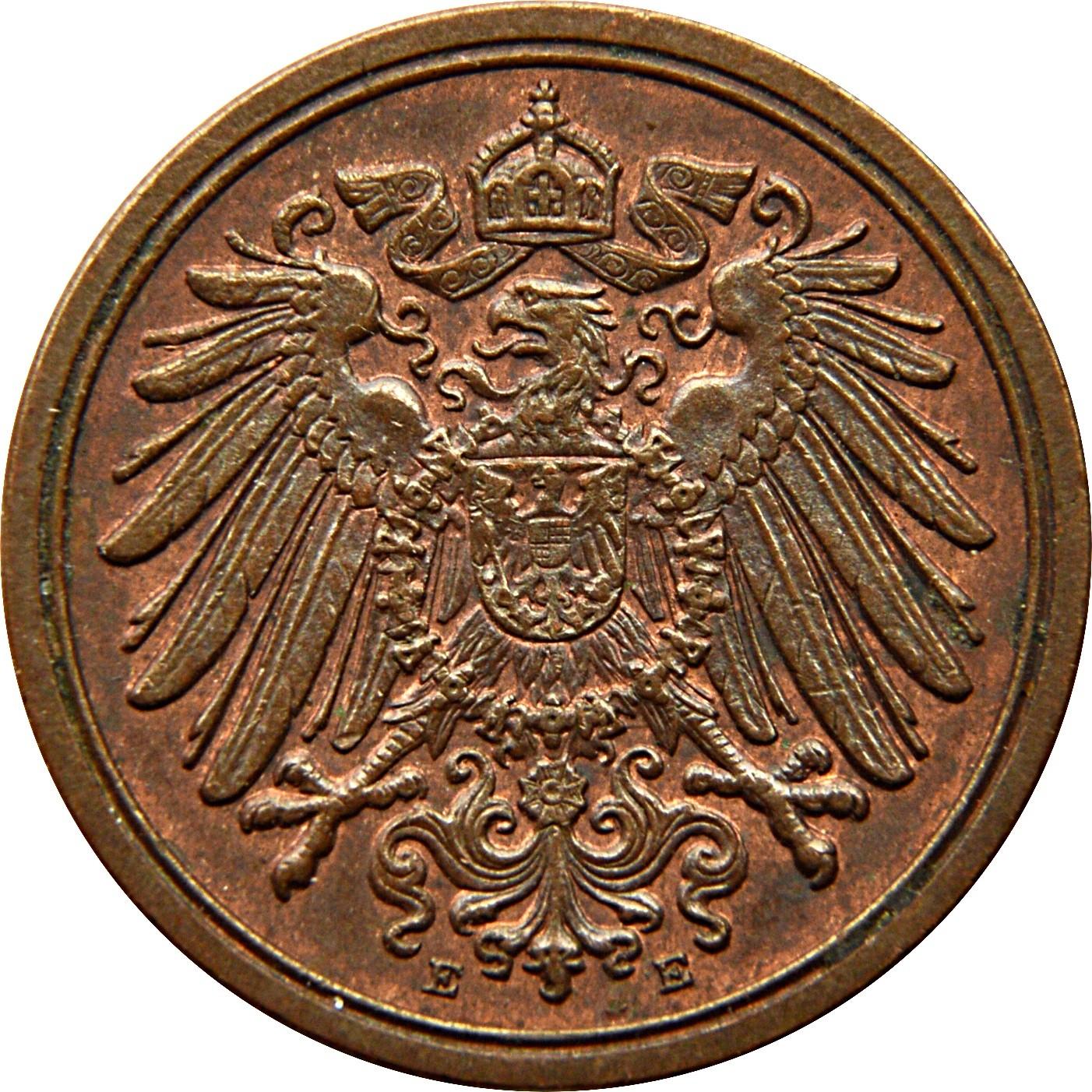 Germany 1 Pfennig  (1890-1916 Wilhelm II)