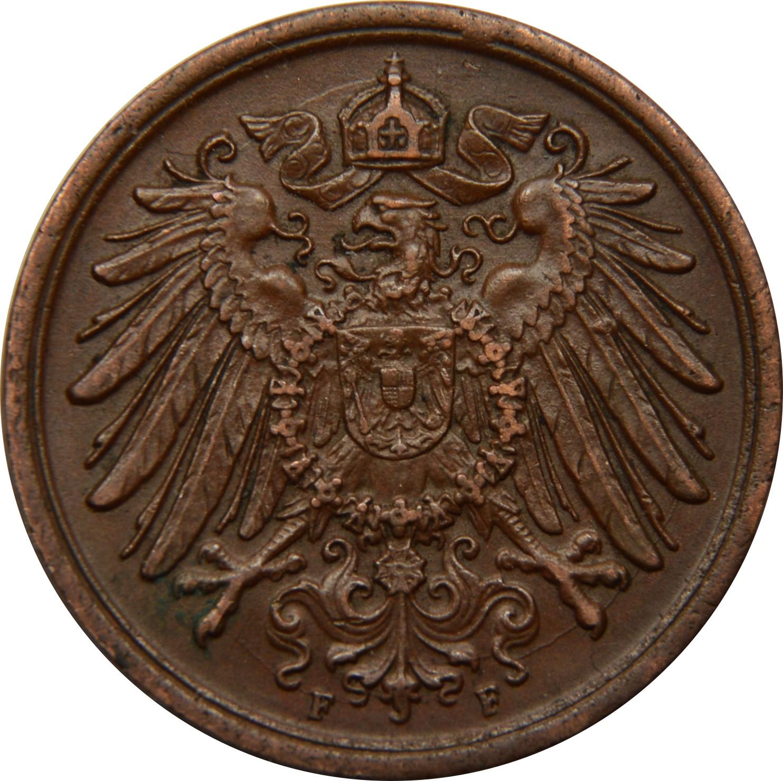 Germany 2 Pfennig  (1904-1916 Wilhelm II)