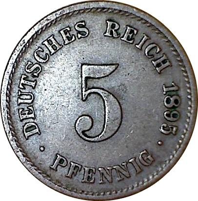 Germany 5 Pfennig  (1890-1915 Wilhelm II)