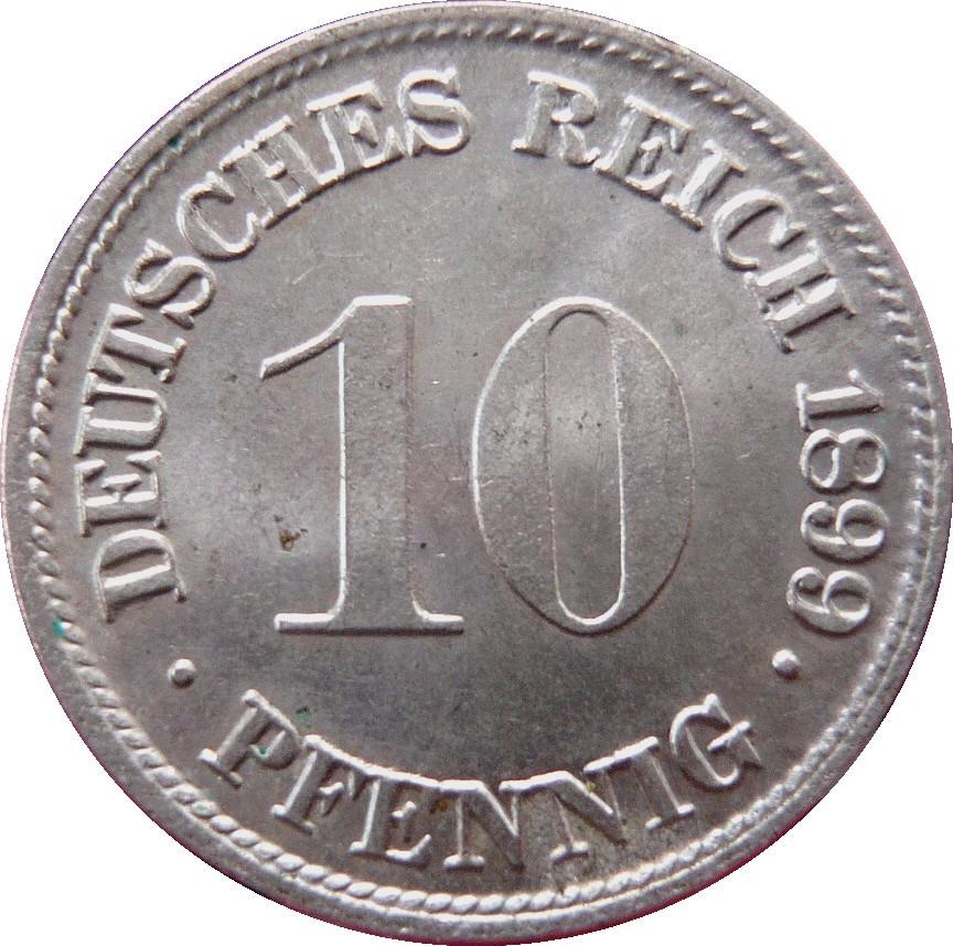 Germany 10 Pfennig  (1890-1916 Wilhelm II)