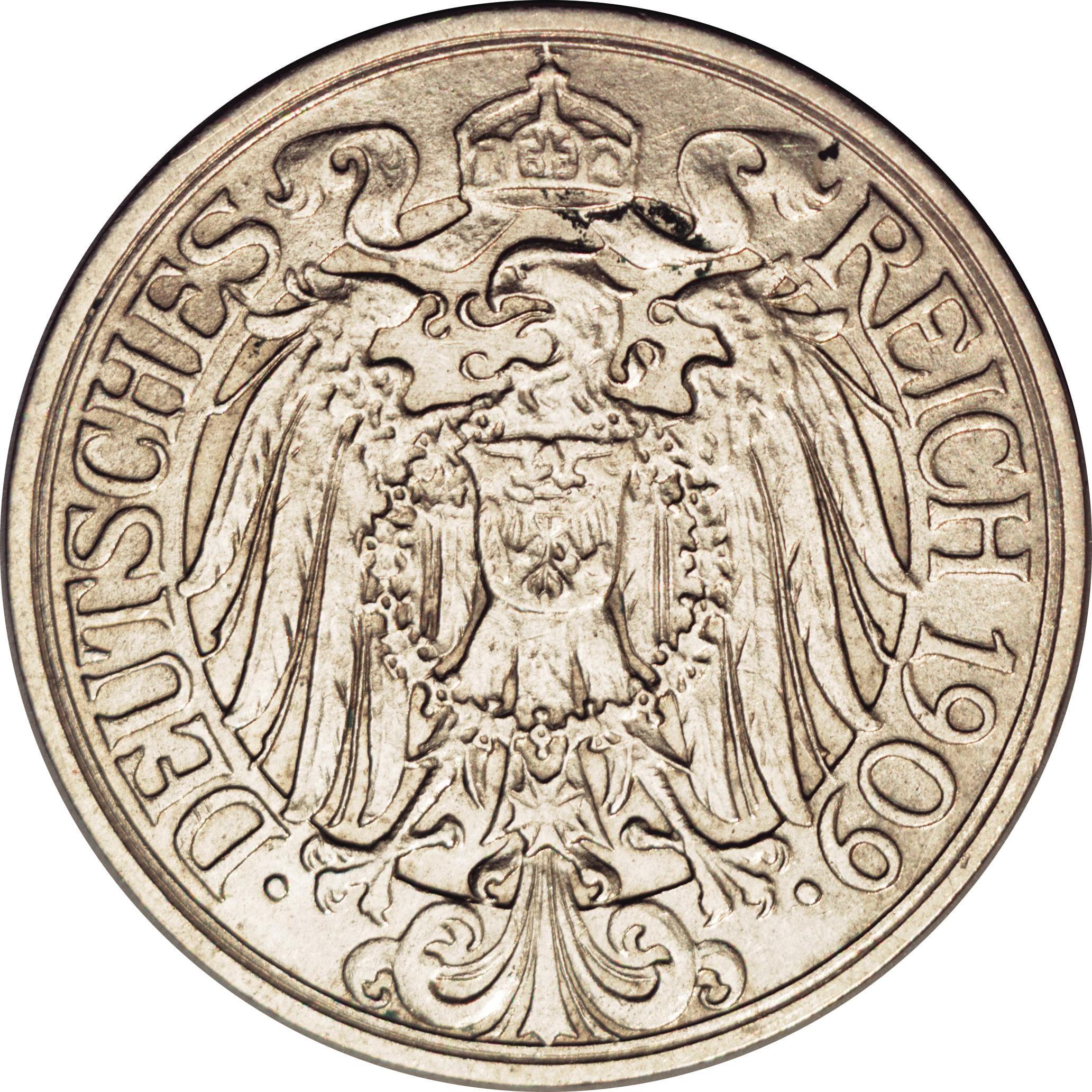 Germany 25 Pfennig  (1909-1912 Wilhelm II)