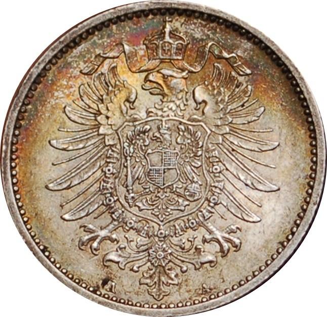 Germany 1 Mark  (1873-1887 Wilhelm I)