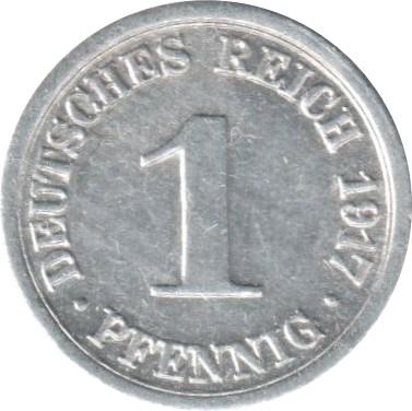 Germany 1 Pfennig  (1916-1918 Wilhelm II)