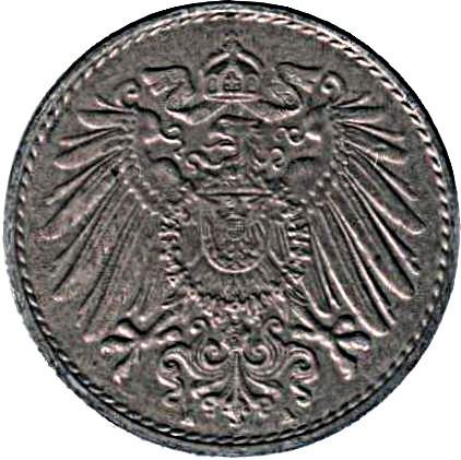 Germany 5 Pfennig  (1915-1922 Wilhelm II)