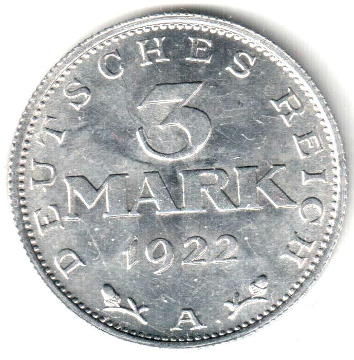 Germany 3 Mark  (1922)