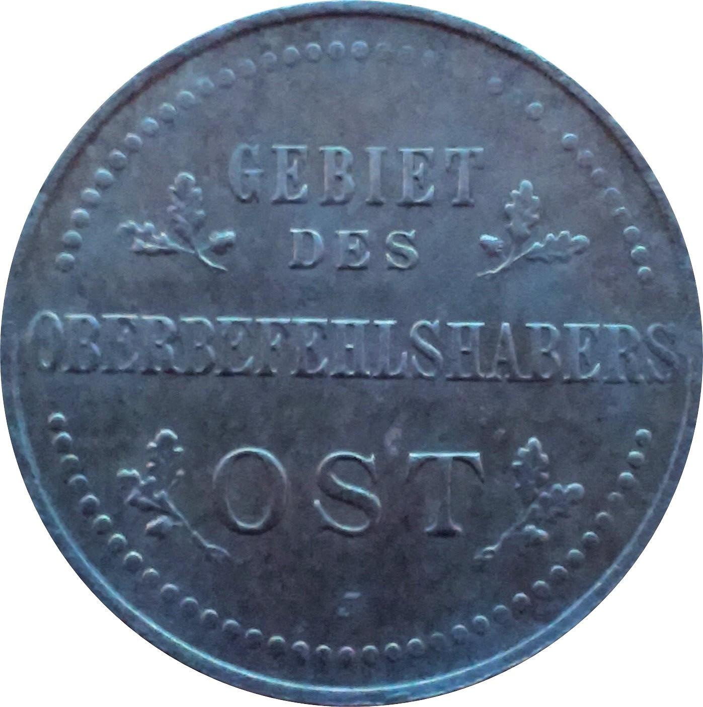 Germany 3 Kopecks (1916 Wilhelm II Military Coinage)