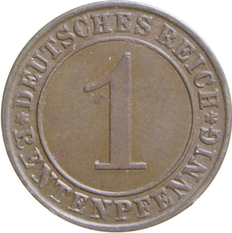 Germany 1 Rentenpfennig (1923-1929)