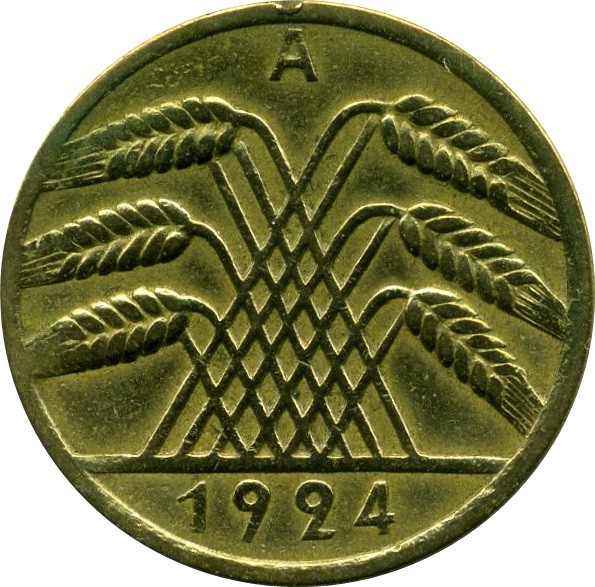 Germany 10 Rentenpfennig (1923-1925)
