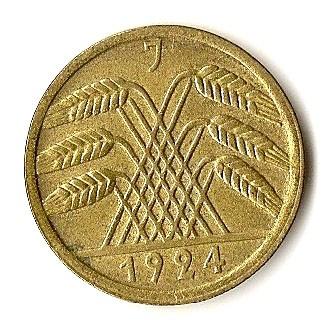 Germany 50 Rentenpfennig (1923-1924)