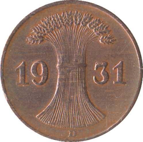 Germany 1 Reichspfennig (1924-1936)