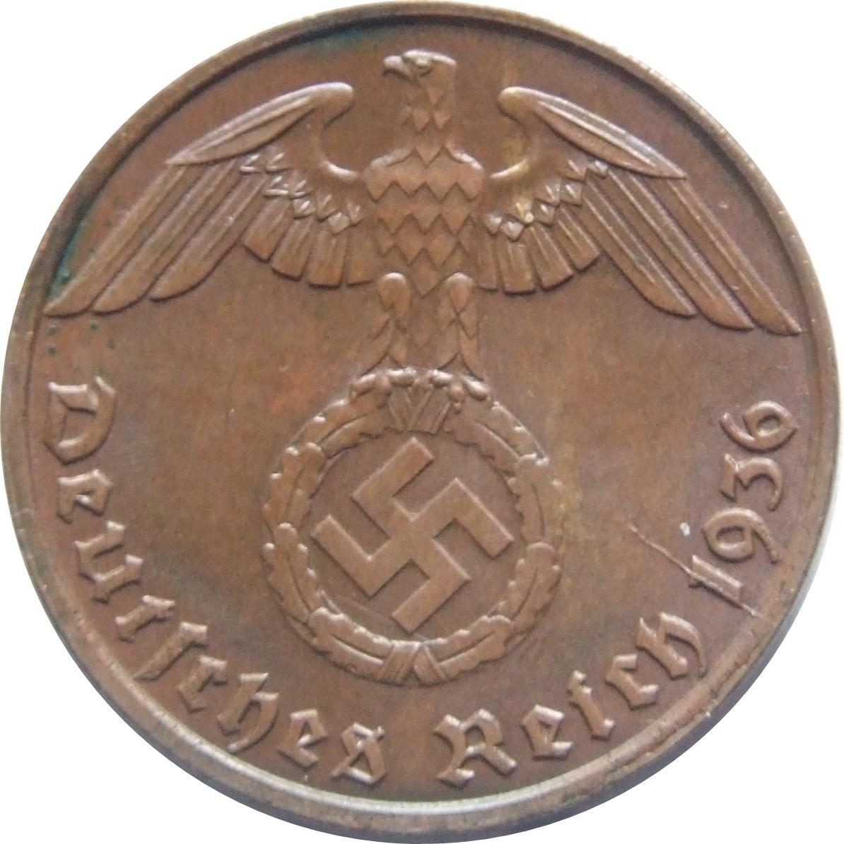 Germany 1 Reichspfennig (1936-1940)