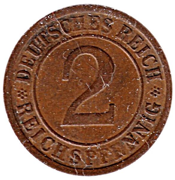 Germany 2 Reichspfennig (1923-1936)