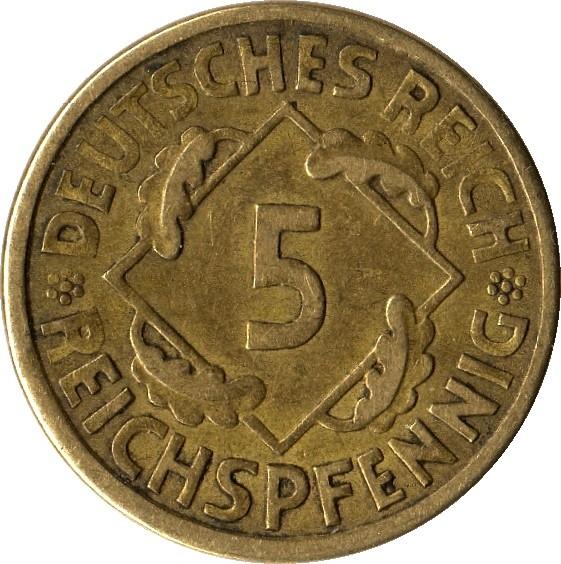 Germany 5 Reichspfennig (1924-1936)